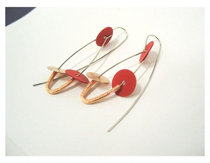 Bakelite Steel Earings