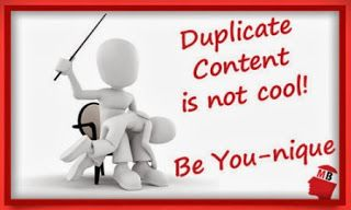 duplicate content is not cool be unique