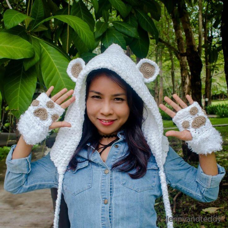 bear hoodie hat by jane