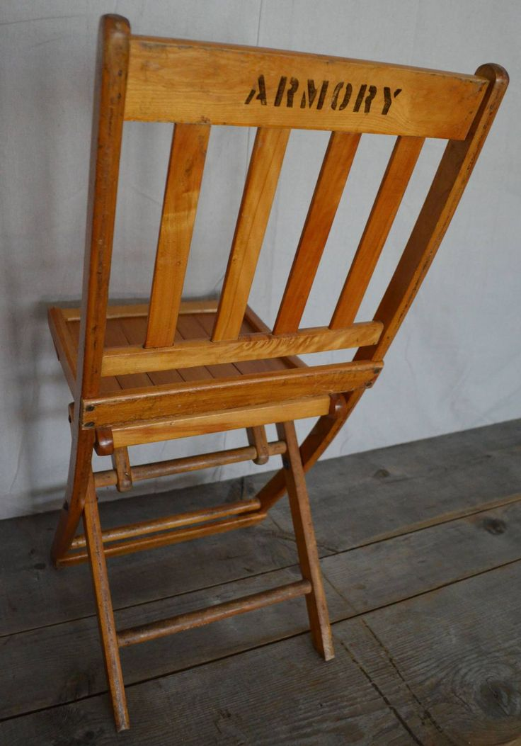 1930s Maple Folding Chair From Midwestern Armory 300