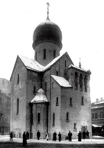 Nikolo Bargradskaja Chirch in Saint Petersburg - Псевдорусский стиль — Википедия