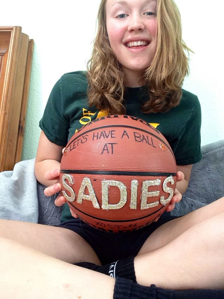 How to ask a basketball player to Sadie Hawkins! (: