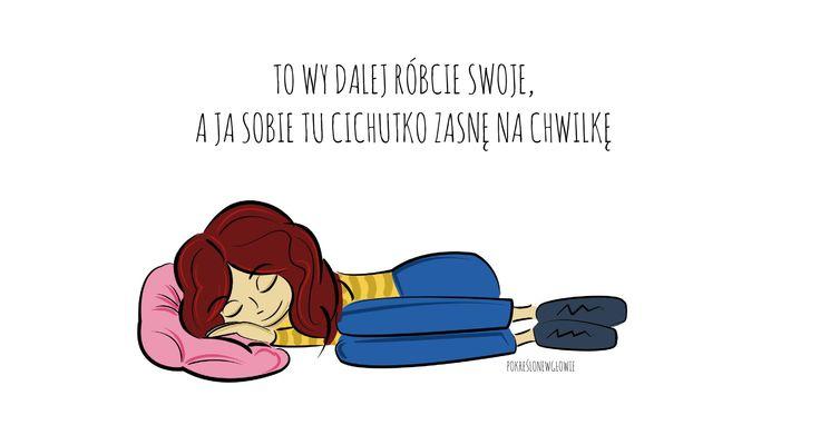 senna bardzo! sen, kobieta, rysunek, praca, zmęczona