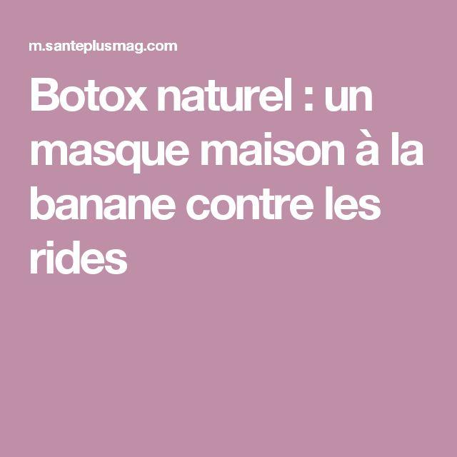 Botox naturel : un masque maison à la banane contre les rides