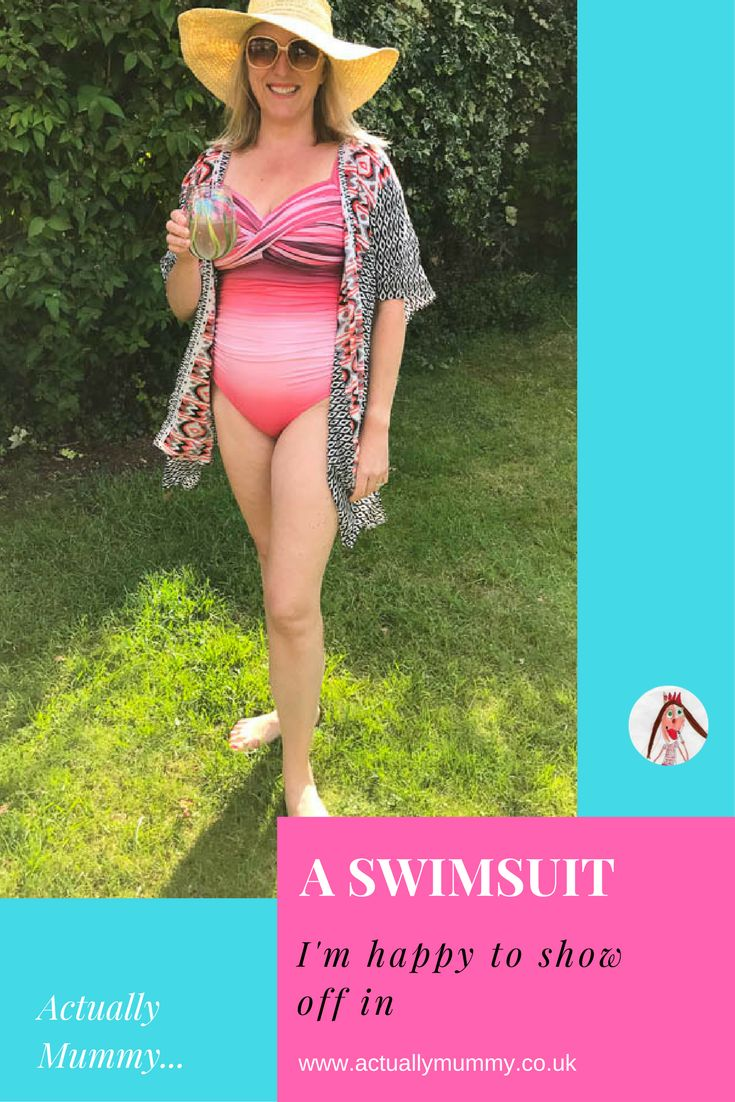 If you're like me, and you've spent a lot of time covering up on a beach because your body is older, and less twenty-something than it used to be, you might like this. This is a swimsuit that I really don't mind showing off in. Click through to find out where I got it