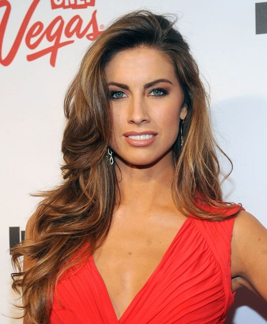 Katherine Webb brunette highlights