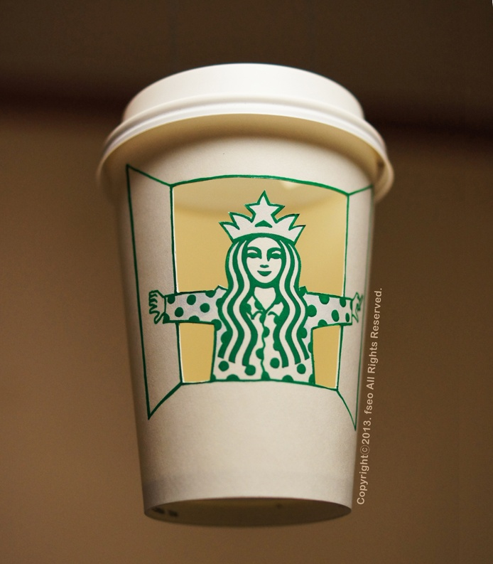 [Cup Art] Goooood Morning!! (with starbucks)