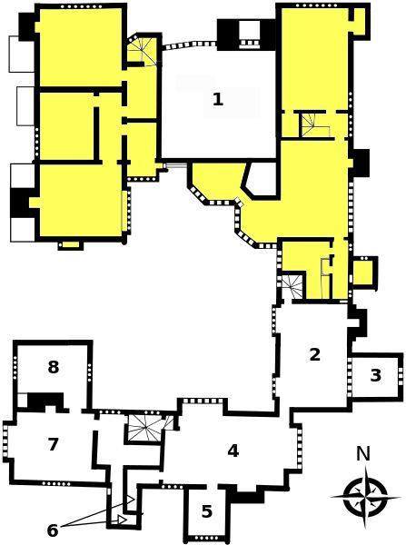 File:Little Moreton Hall - first floor coloured.svg