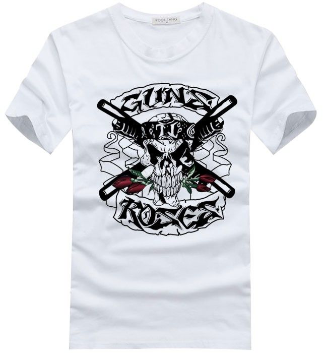 Guns N 39 Roses Skull And Guns Logo New Style T Shirt