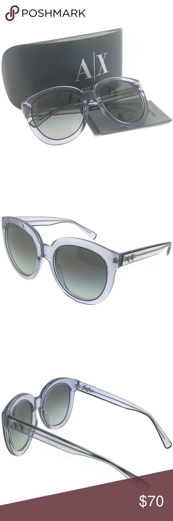 AX4003-803111 Women's Violet Frame Sunglasses New gorgeous authentic Armani Exchange AX4003-803111 violet crystal frame grey Lens 53mm genuine sunglasses with stylish look. Armani Exchange, or A|X, are the fashion-forward label created by Armani. The brand cites street-chic culture, fashionable dance music, freedom, and personal styles as its inspiration. You can see that trendy influence in the versatile Armani Exchange sunglasses line, which offers great style choices for any hip…