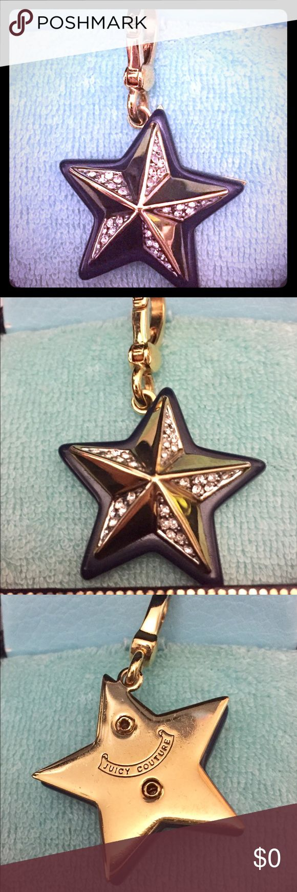 Juicy Couture Charm Juicy Couture Star ⭐️ Charm with blue trim and Pave stones. In excellent condition and kinda hard to find. ⭐️⭐️⭐️⭐️⭐️⭐️ Not for sale, just sharing from my personal collection. Juicy Couture Jewelry