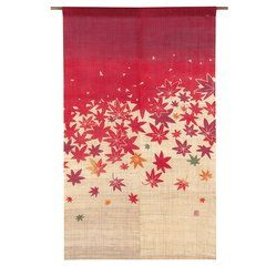 Autumn Leaves Pattern Noren Curtain