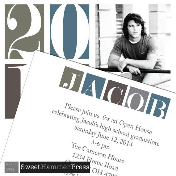 2016 Bold Graduation Announcement or Grad by SweetHammerPress