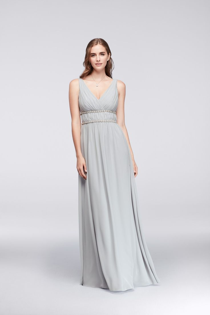 117 best gray wedding images on pinterest gray weddings davids for your gray wedding tank surplice bodice chiffon bridesmaid gown with beaded waist from wonder ombrellifo Image collections