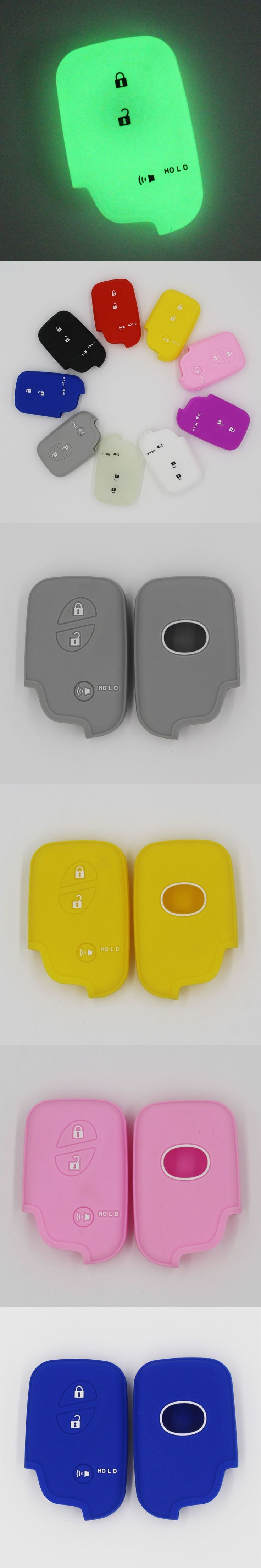 silicone rubber car key cover holder protective case for Lexus CT200h ES 300h IS250 GX400 RX270 RX450h RX350 3 button remote key