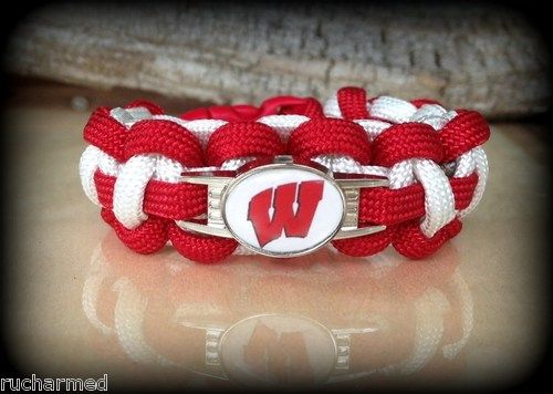 Wisconsin Badgers Football Survival Bracelet            Mouse over image to zoom