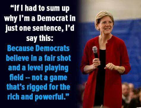 Well said! I adore Elizabeth Warren.