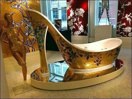 High heel bathtub  Bath tub made in the shape of a high heel. 49 best High Heel Merchandising images on Pinterest   High heels