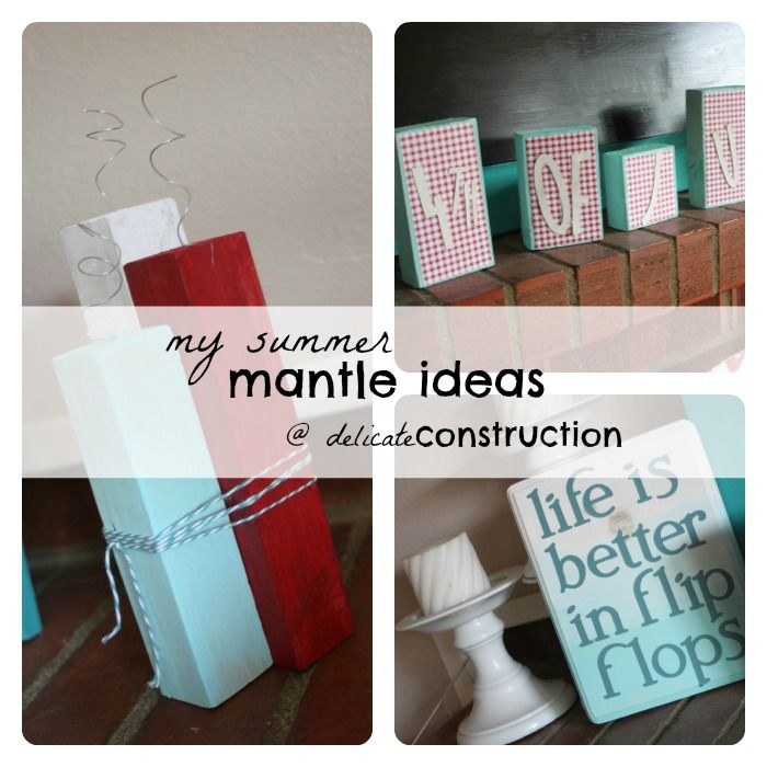 My Summer Mantle {Part 1}: Great Fourth of July Decor Ideas!