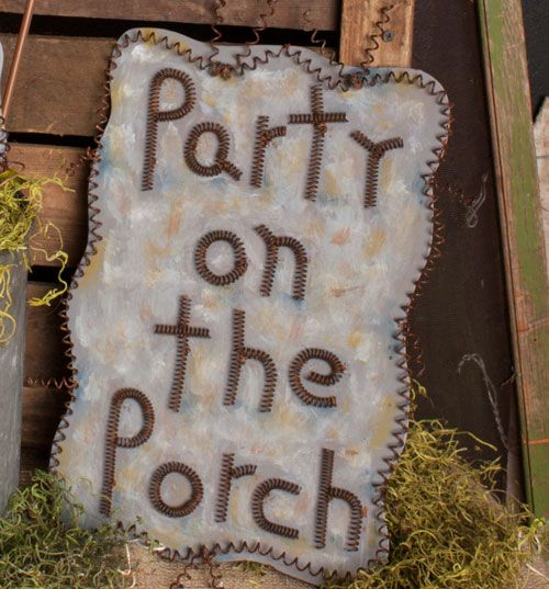Image result for Party On the Porch Sign
