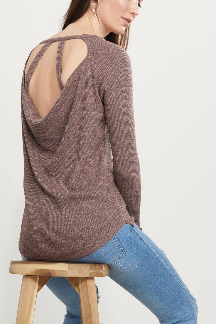 Turn your back on the haters Ribbed Tunic with Back Details