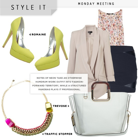Love this look with the Romaine shoe in yellow from Shoe Dazzle