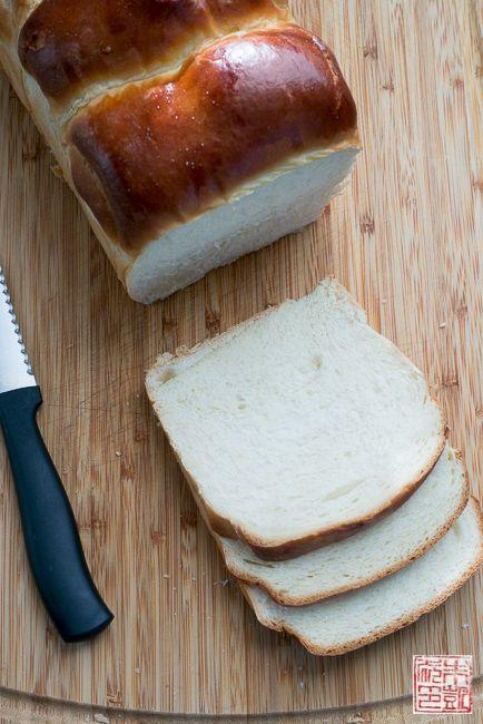 milk bread sliced: Hokkaido Milk Bread: The Tangzhong Method.   wonderfully soft, fluffy bread