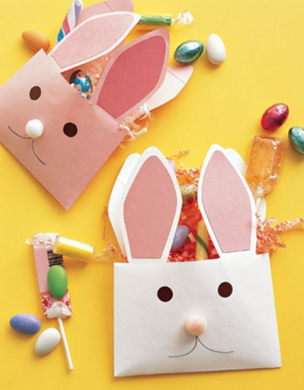 ostergeschenke kindern basteln ideen süßigkeitstüten hasen briefumschlag