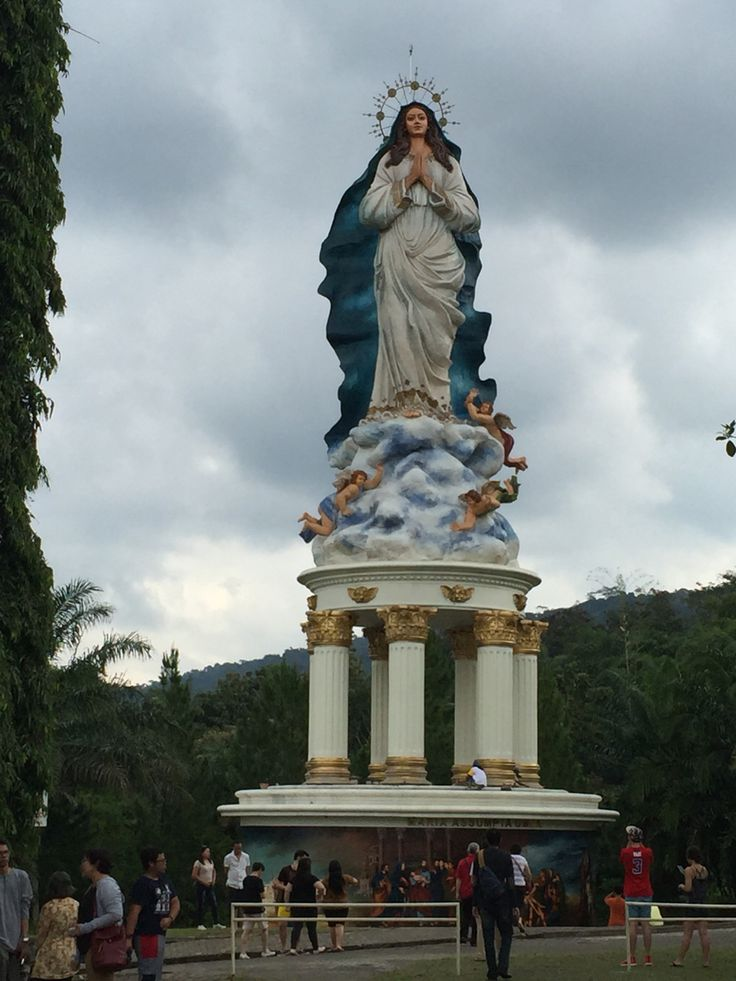 religion tour, St. Maria statue  Assumpta, in Kerep, Ambarawa, Central Java.