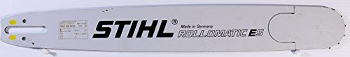 """Genuine Stihl Rollomatic E Super (ES) Chainsaw Bar 3/8"""" pitch 0.050"""" guage for profesional Chainsaw (YELLOW - Agressive cut) (20"""" Bar)  3003 000 8822. 3/8"""" pitch; 0.050"""" gauge. This is 20"""" bar. Available in 16"""", 18"""", 20"""", 24""""(25""""), 28"""", 32"""", 36"""". Please choose length you need. Longer (upto 56"""") bars are available as special order.  Unlike the STIHL ROLLOMATIC® E Standard, the STIHL ROLLOMATIC® E Super consists of a solid and particularly rigid bar with a sprocket nose which can be repl..."""