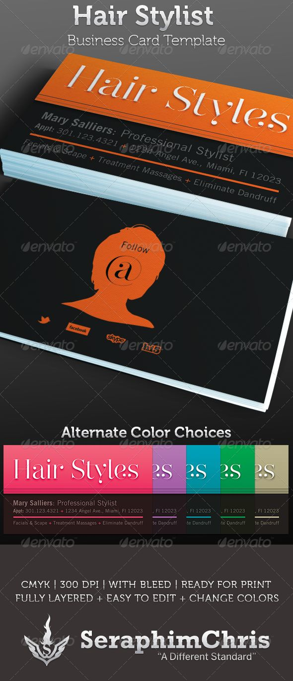 hair styling business cards 17 best images about business cards on fonts 5820