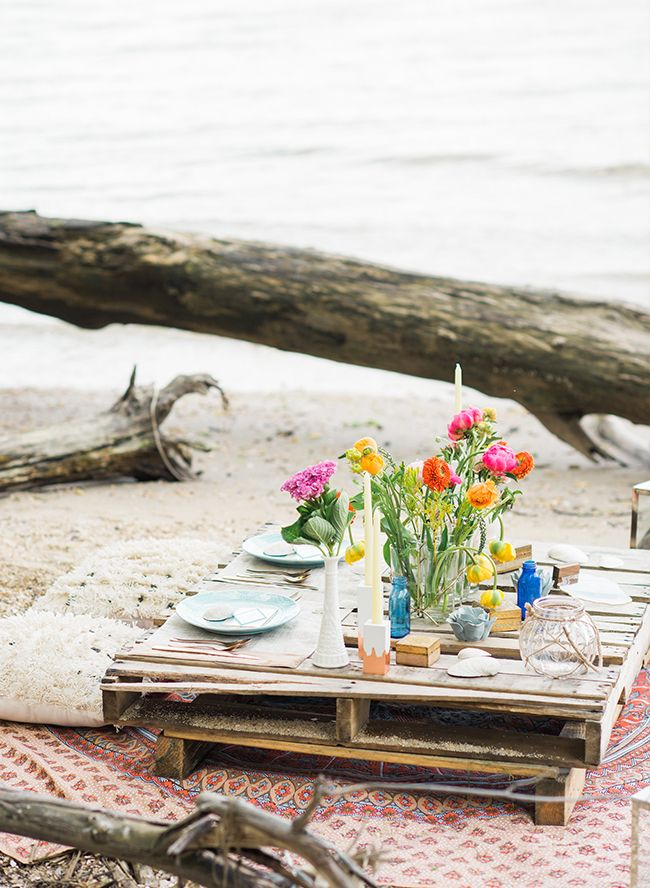 Bohemian Beach Wedding Inspiration - Inspired by This