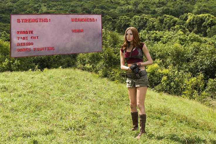 Karen Gillan AS MARTHA IN JUMANJI 2017 -- Karen Sheila Gillan was born and raised in Inverness, Scotland. She developed a love for acting very early on, attending several youth theatre groups and taking part in a wide range of productions at her school, Charleston Academy. At age 16, Karen decided she wanted to pursue her acting career further and, ...