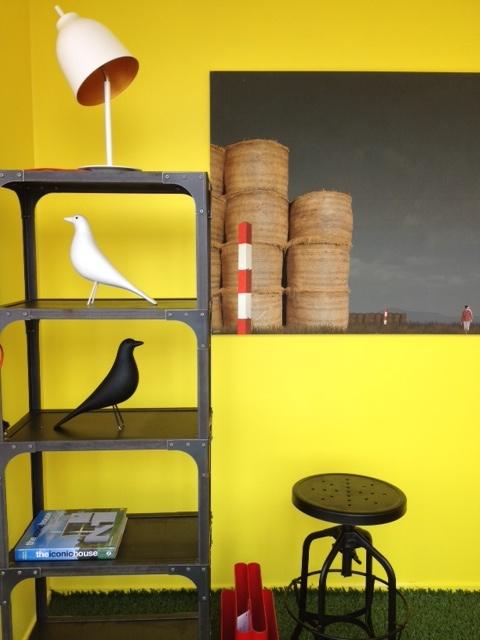 Industrial bookshelf, replica caravaggio table lamp, replica eames birds and industrial bar stool in black. New arrivals at Replica Furniture!