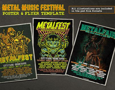 "Check out new work on my @Behance portfolio: ""Metal Music Festival Poster & Flyer"" http://on.be.net/1Q4Uza8"