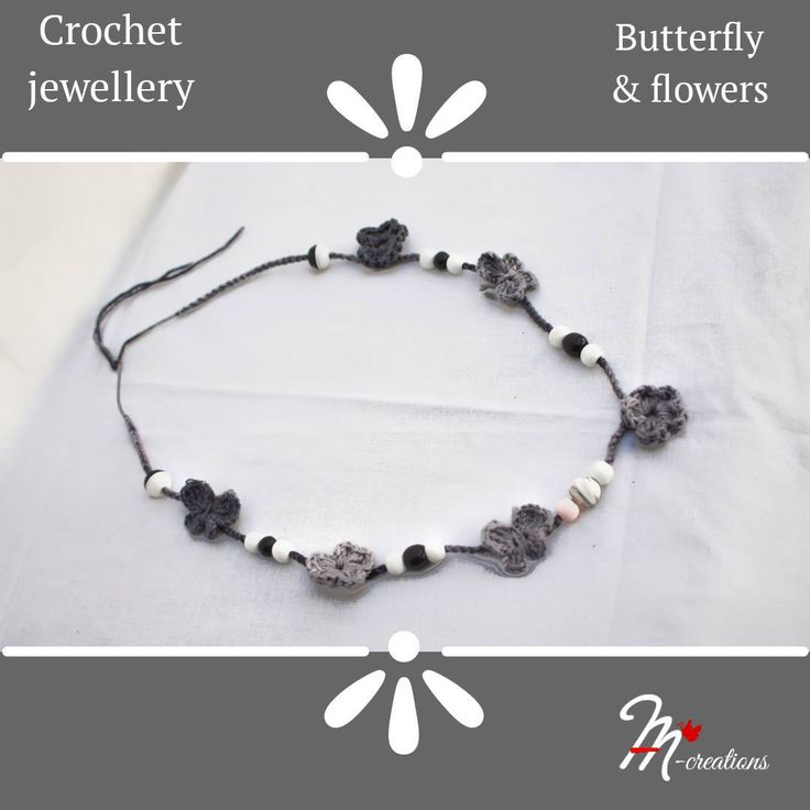 Excited to share the latest addition to my #etsy shop: Crochet jewellery - Butterfly and flowers #jewelry #necklace #handmade #gifts #jewellery #crochetnecklace #yarnspirations #yarnstories #yarnart #handmadejewelry #withbeadsknitting #fashion #crochetjewelry #crochet #jewelry #handcrafted #artisan #crochetjewelryforbravewomen #necklace #handcraftedjewelry #handcraftedgifts #onlyforyou #madewithcare #bohojewelry #crochetnecklace #style https://etsy.me/2IzTcnp