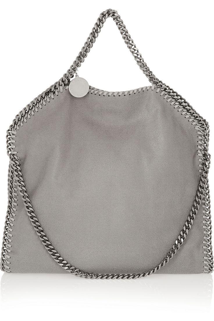 Stella McCartney|Falabella faux brushed-leather shoulder bag |NET-A-PORTER.COM