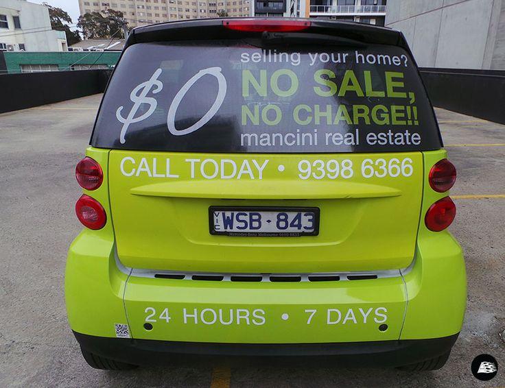 Mancini Real Estate, Summer Rear Window Campaign #smart #mancini #realestate #rearwindowadvertising #vehiclebranding