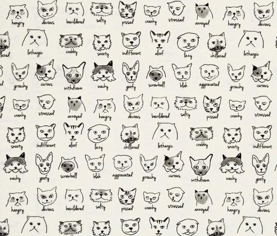 Moda Fabric Meow or Never by Erin Michael by MargosQuiltsNFabric