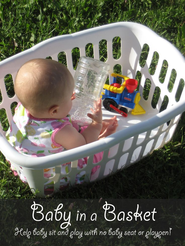 How to Help a Baby Sit Up and Play Without an Infant Seat or Playpen