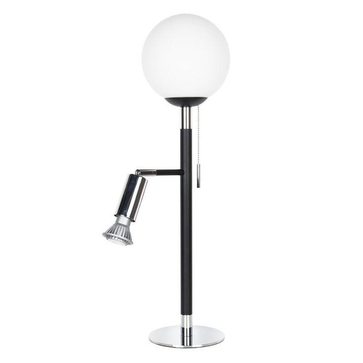 Globen Lighting Uncle Svart/Krom Bordlampa