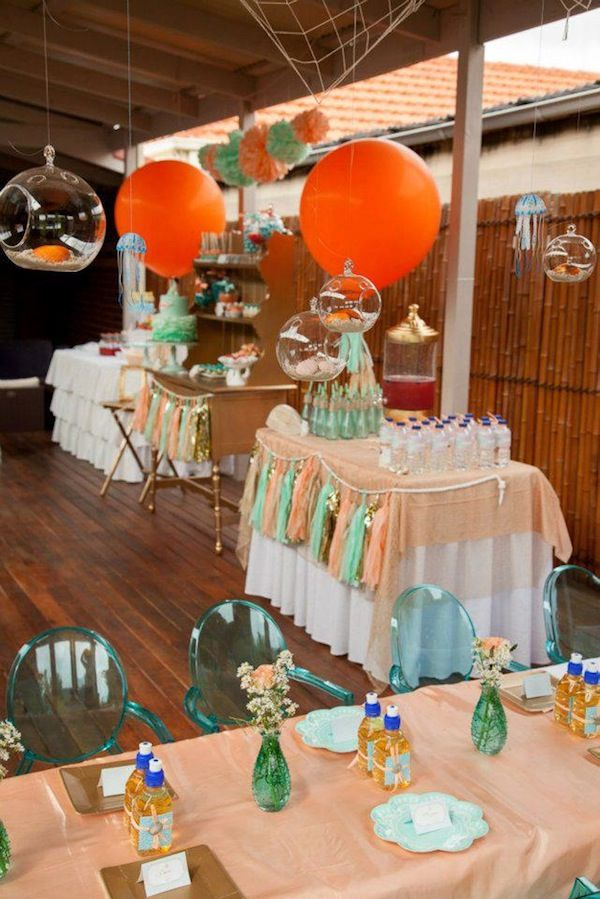 Teen Ocean Themed Bedroom: Mermaid Ocean Under The Sea Girl Birthday Party Via Kara's