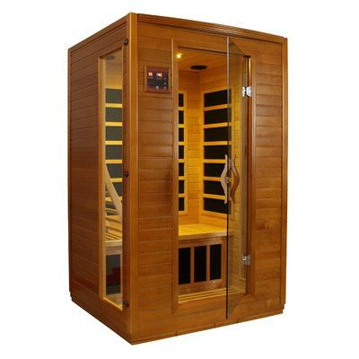 Features:  -2 Person carbon FAR infrared sauna.  -Full 2 person capacity.  -Tempered glass door and 2 full length side windows.  -Interior reading light.  -6 Carbon heating panels.  -MP3 auxiliary con