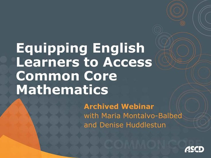 Professional Development Video from ASCD --Equip your #ELLs with access to #CommonCore #math #videoed