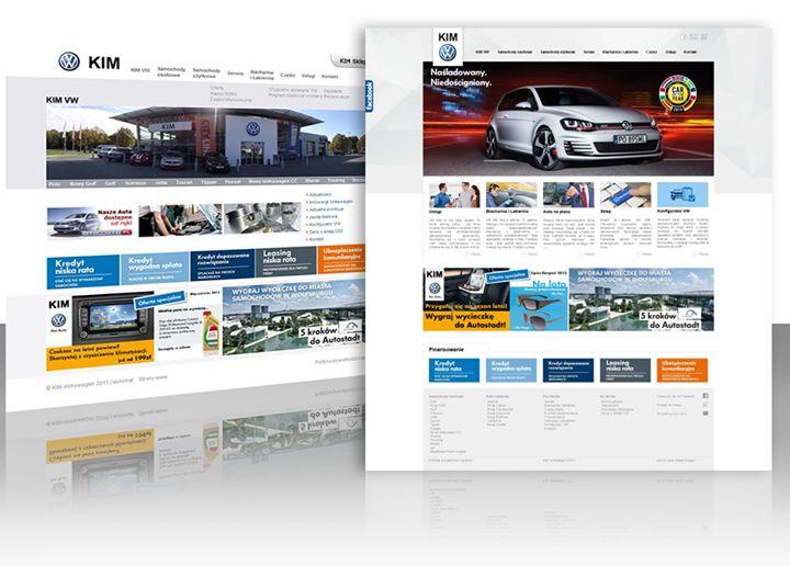 Z dealerem #Volkswagen, firmą #VW KIM współpracujemy już od kilku lat. Firma świadoma tego, że musi dbać o swoich klientów, a tym samym odbiorców strony internetowej zdecydowała się powierzyć nam odświeżenie layout'u i funkcjonalności strony.