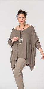 Plus size Join Clothes cigar knitted scoop long top