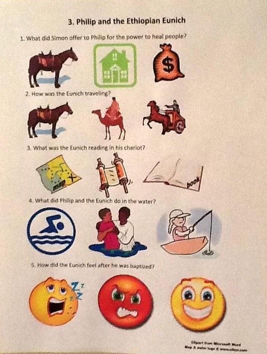 Acts    Preschool Craft