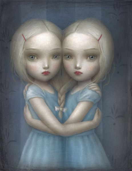 Reminds me of my mom and her sister for some reason. They were rather creepy twins.