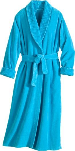Our Shawl Collar Wrap Chenille Robe with set-in waist defines your figure without compromising comfort. Wrap in the plush embrace of our chenille robe.