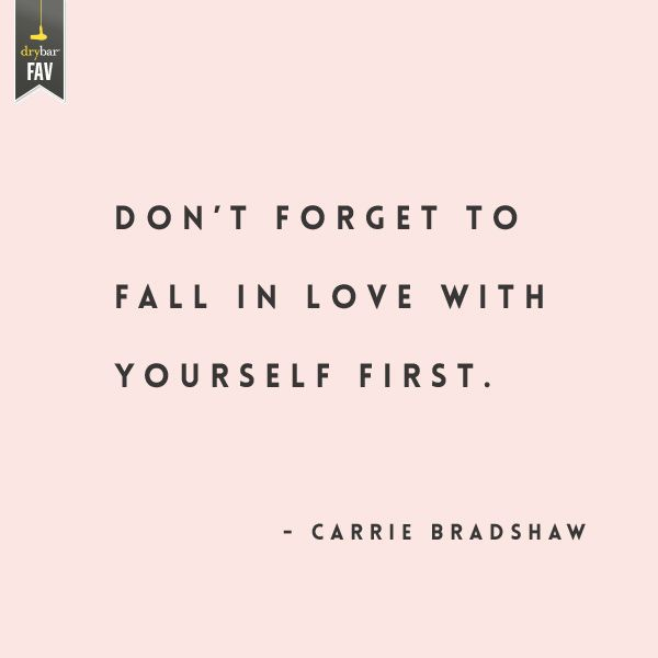 #truth #carriebradshaw. You can't meet the right man and THEN find yourself it never works that way.